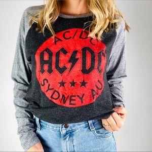 AC/DC SYDNEY AU Crewneck Baseball Graphic Tee L